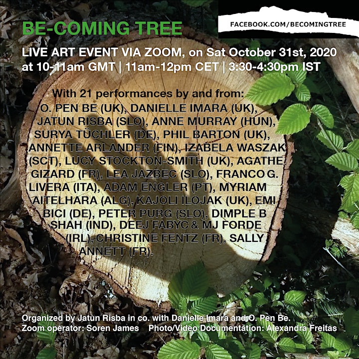 2nd collective 'Be-coming Tree' Live Art event via Zoom image