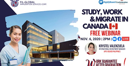 FREE WEBINAR: Study and Work Canada! Affordable Program in Canada tickets