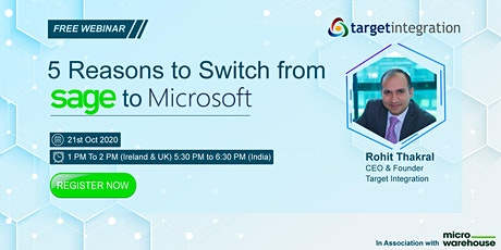 5 Reasons to Switch from SAGE to Microsoft tickets