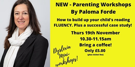 How to  build up your child's READING FLUENCY. Incl. a case study tickets