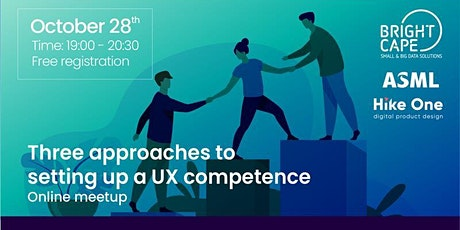 Three approaches to setting up a UX competence tickets