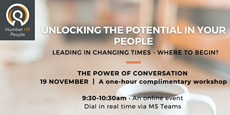 The Power of Conversation - Communication workshop for business leaders tickets