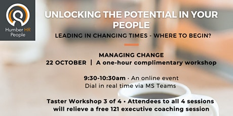 Managing Change for Business Leaders and Directors tickets
