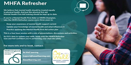 Adult Mental Health First Aid Refresher (MHFA) Online course