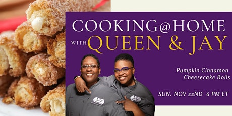 "Cooking with Queen & Jay ""Pumpkin Cinnamon Cheesecake Rolls"" tickets"