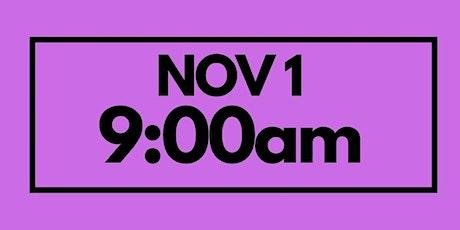 9:00AM Nov 1 - Services & Kids Registration tickets