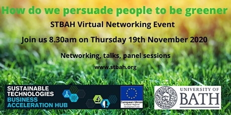 STBAH Networking event: How do we persuade people to be greener tickets