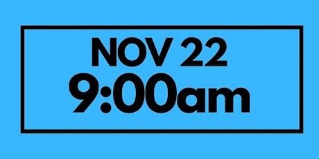 9:00AM Nov 22  - Services & Kids Registration tickets