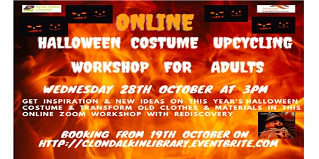 Online Halloween costume upcycling workshop for adults.