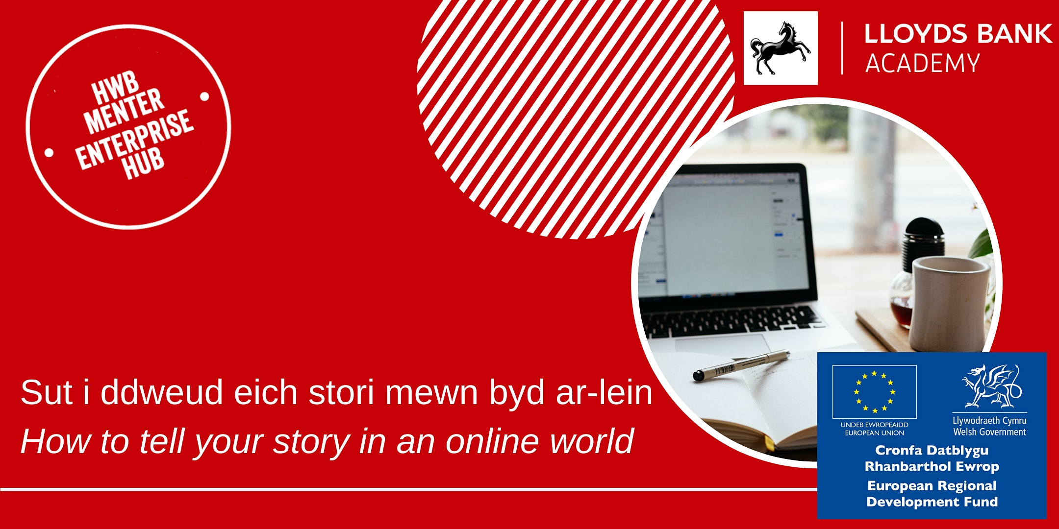 Dweud eich stori mewn byd ar-lein / Telling your story in an online world