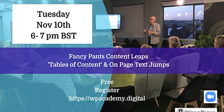 Fancy Pants Content Leaps tickets