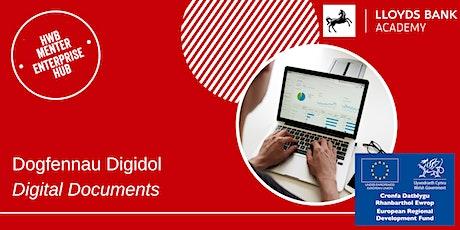 Dogfennau Digidol / Digital Documents tickets