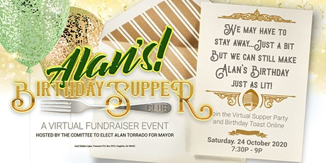 ALAN'S BIRTHDAY SUPPER CLUB: A Virtual Fundraiser Event tickets