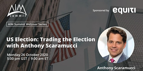 US Election:Trading the election with Anthony Scaramucci tickets