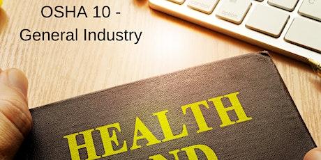 OSHA 10 General Industry tickets