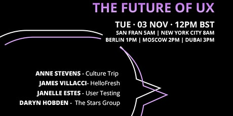 Panel: The Future of UX with UserTesting tickets