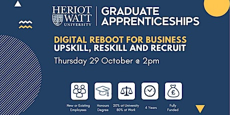 Digital Reboot for Business - upskill, reskill and recruit - Live Webinar tickets