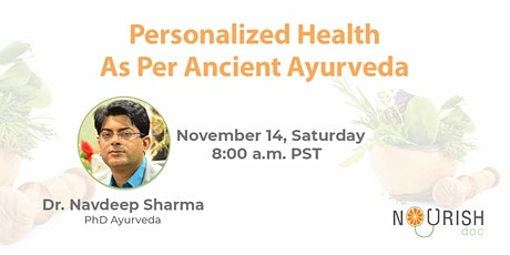 Personalized Ayurveda and Yoga for Your Body Type tickets