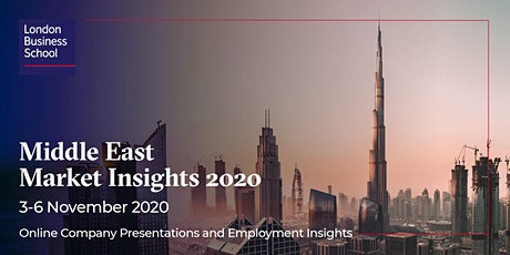 Middle East Market Insights Week 2020 tickets