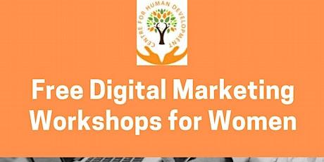 Digital Marketing Training for Women tickets