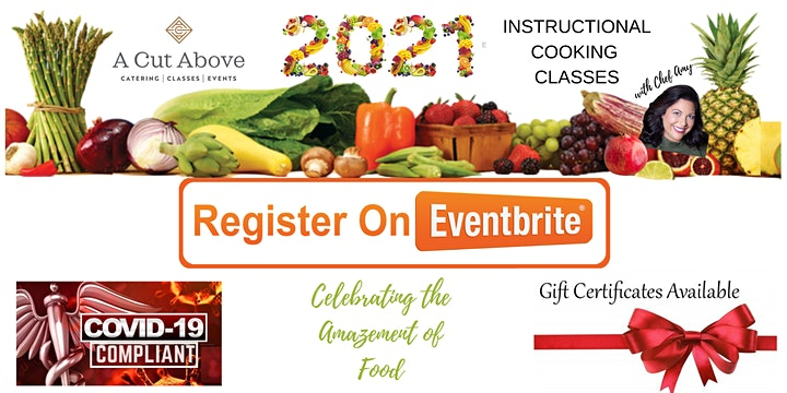 HEALTHY NEW YEAR! - Instructional Cooking Class - In-Person or Virtual image