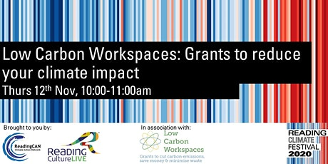 Low Carbon Workspaces: Grants to reduce your climate impacts tickets