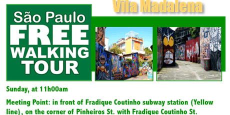 SP Free Walking Tour - VILA MADALENA (English) ingressos
