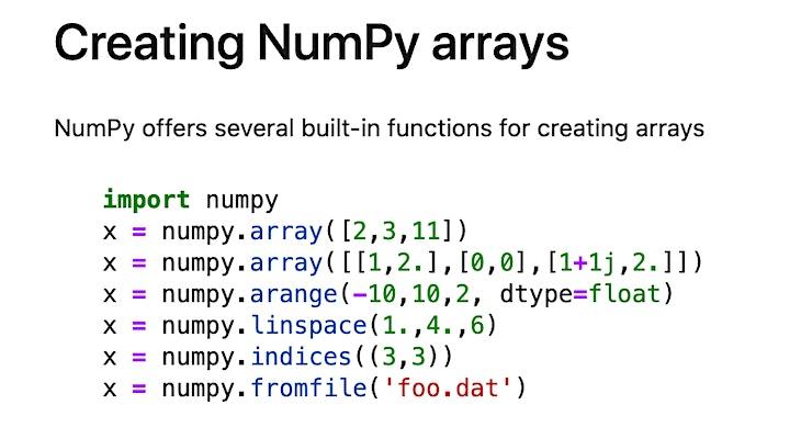 [FREE] Intro to NumPy image