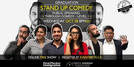Online Grad Show: Public Speaking Through Comedy Workshop tickets