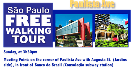 SP Free Walking Tour - PAULISTA AVE (English) tickets