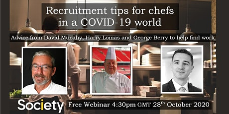 Society Webinar: Recruitment Tips for Chefs in a COVID-19 World tickets