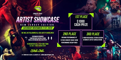 Concert Crave Artist Showcase - New Jersey! 11.21.20 tickets