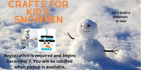 Crafts for Kids: Snowmen tickets