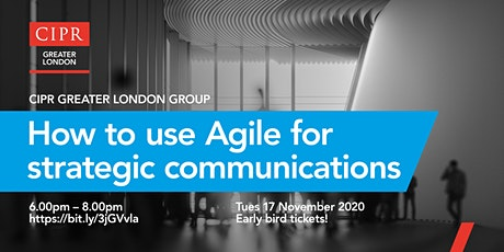 How to use AGILE as a strategic management tool in communications WEBINAR tickets