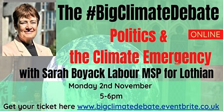 Politics &  the Climate Emergency with Sarah Boyack MSP tickets