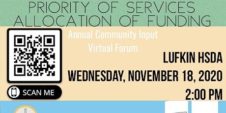 Lufkin/Nacogdoches Area Ryan White HIV Funding Community Forum tickets