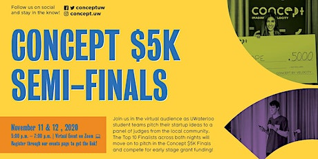 Concept $5K Semi-Finals: Night 2 tickets