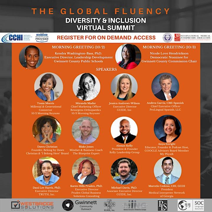 2020 Global Fluency Virtual Diversity & Inclusion Summit - On Demand image