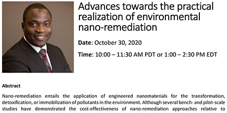 Advances in Practical Realization of Environmental Nano-Remediation tickets