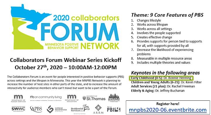 MNPBS 2020 Collaborators Forum Webinar Series - Fall Kickoff (Part 2 of 4) image