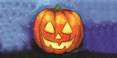 30min Halloween Art Lesson - Jack O' Lantern Pumpkin @2PM (Ages 5+) tickets