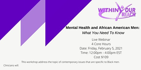 Mental Health & African American Men: What You Need To Know tickets