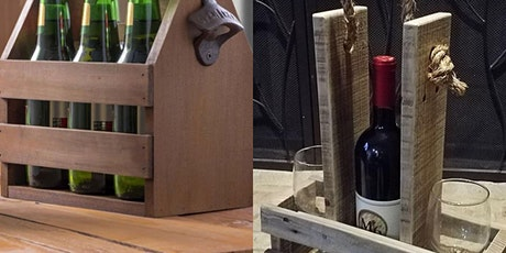 Beer/wine caddy workshop tickets