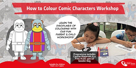 Parent & Child Workshop - How to Colour Comic Characters!