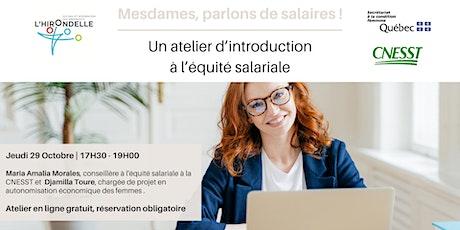 Atelier d'introduction à l'équité salariale billets