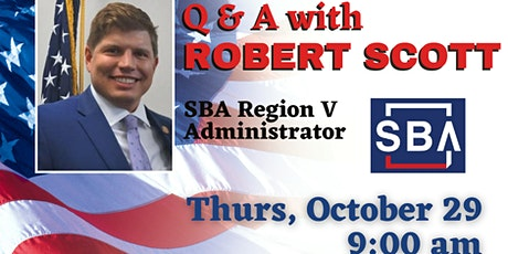 Zoom call with Robert Scott, SBA Region V Administrator tickets
