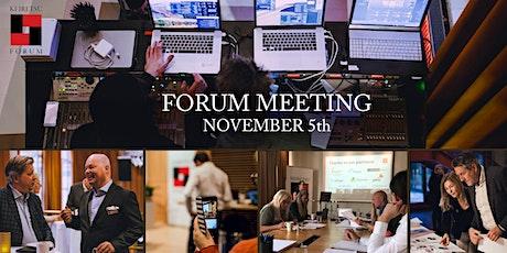 Forum Meeting November 5th tickets