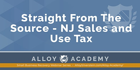 Straight from the Source – NJ Sales and Use Tax tickets