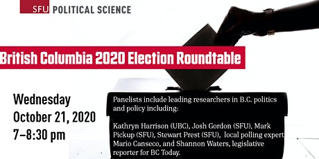 British Columbia 2020 Election Roundtable tickets