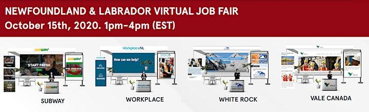 Newfoundland Virtual Job Fair - Wednesday, April 21st 2021 image